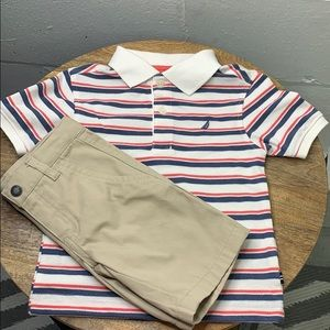 Nautica baby outfit shorts and polo shirt